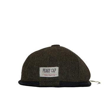 PORTLAND MENS TWEED PEAK CAP WASHBAG