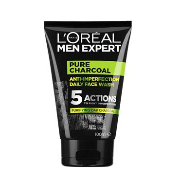 LOREAL MEN EXPERT PURE CHARCOAL DAILY FACE WASH 100ML