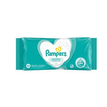 PAMPERS WIPES SENSITIVE FRAGRANCE FREE WIPES 52S