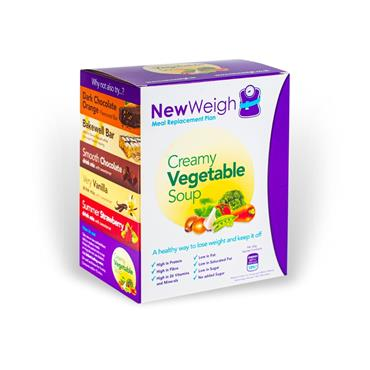 NEW WEIGH MEAL REPLACEMENT PLAN CREAMY VEGETABLE SOUP 7 SACHETS