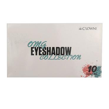 CROWN OMG EYESHADOW COLLECTION 10 COLOURS