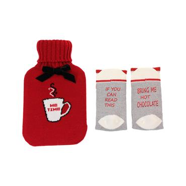 SOMETHING SPECIAL NOVELTY HOT WATERBOTTLE AND SOCK SET