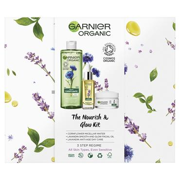 GARNIER ORGANIC THE NOURISH AND GLOW KIT