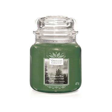 YANKEE EVERGREEN MIST MEDIUM JAR CANDLE