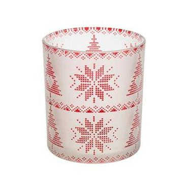 YANKEE RED NORDIC GLASS SCENTED LARGE