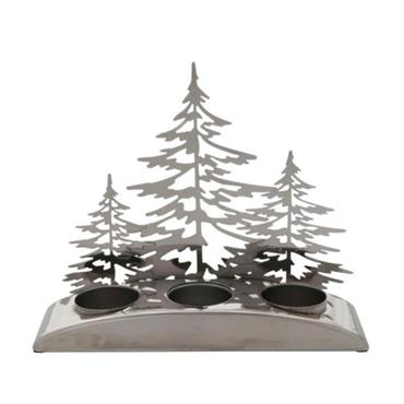 YANKEE SNOW GATHER TREES TEA LIGHT HOLDER
