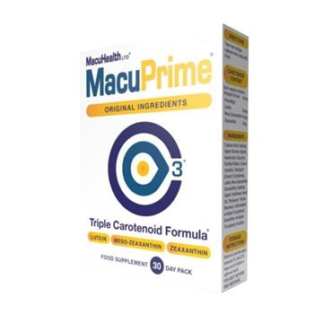 MACUHEALTH MACUPRIME TRIPLE CAROTENOID FORMULA 30 CAPSULES