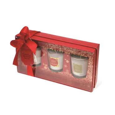TIPPERARY CRYSTAL 3 MINI RED CANDLES