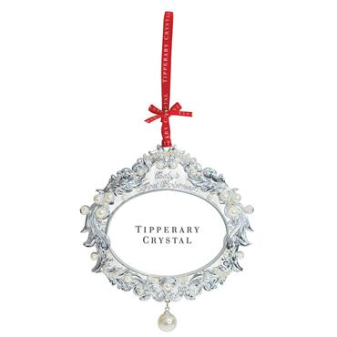 TIPPERARY CRYSTAL PEARL FIRST CHRISTMAS DECORATION