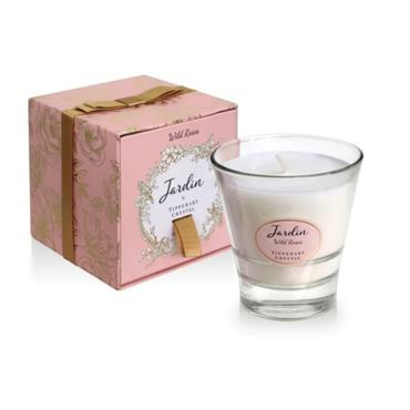 TIPPERARY CRYSTAL WILD ROSES CANDLE