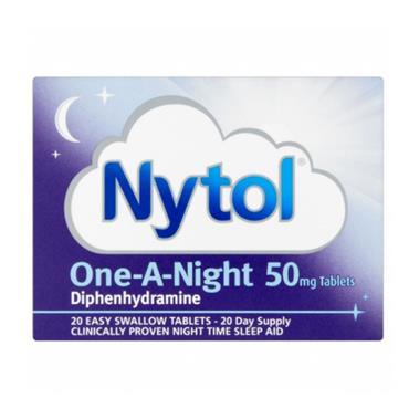 NYTOL DIPHENHUDRAMINE CAPS 20S