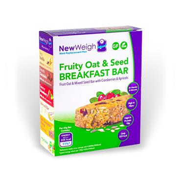 NEW WEIGH MEAL REPLACEMENT PLAN FRUITY OAT & SEED BREAKFAST BAR 7 BARS