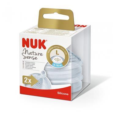 NUK NATURE SENSE TEAT 6-18 LARGE
