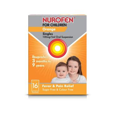 NUROFEN 3+ ORANGE SF SACH 16S