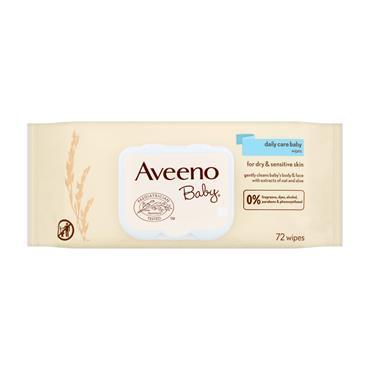 AVEENO BABY CARE WIPES 72S