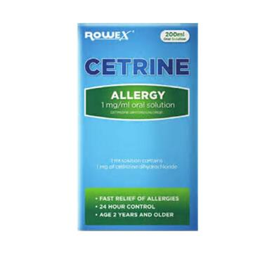 CETRINE ALLERGY ORAL SOLUTION 200ML