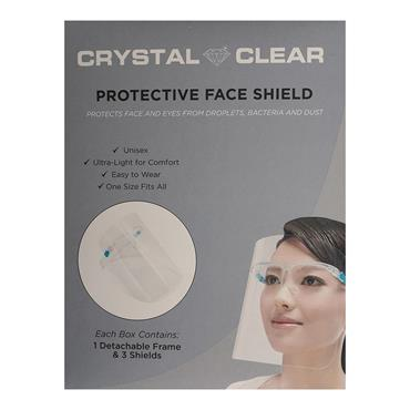 CRYSTAL CLEAR PROTECTIVE FACE SHIELD