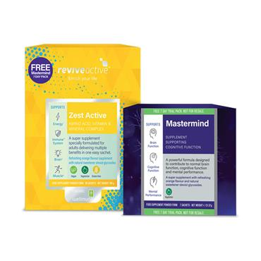 REVIVE ZEST ACTIVE BANDED PACK 30S + MASTERMIND 7 DAY TRIAL PACK
