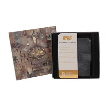 SOMETHING SPECIAL LEATHER LOOK CARD SLIDER WALLET