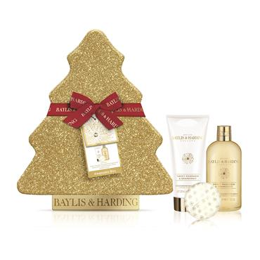 BAYLIS AND HARDING MANDARIN AND GRAPEFRUIT FESTIVE TREE OF TREATS BATH SET