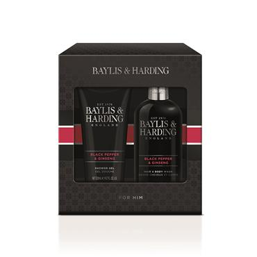 BAYLIS AND HARDING BLACK PEPPER AND GINSENG LUXURY BATHING ESSENTIALS