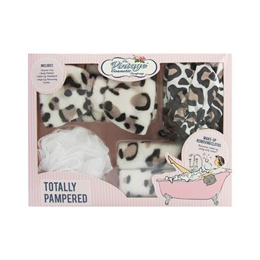 THE VINTAGE COSMETIC COMPANY TOTALLY PAMPERED LEOPARD PRINT