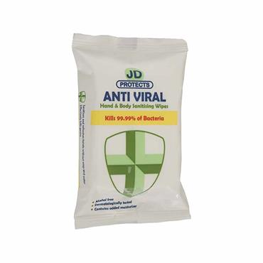 JD PROTECTS HAND  BODY ANTIVIRAL 20 WIPES
