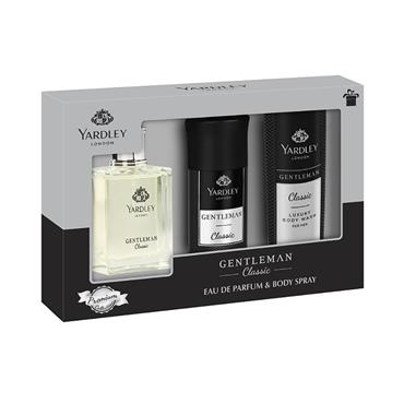 YARDLEY GENTLEMAN CLASSIC 50ML 3PC GIFTSET