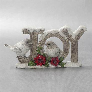 VERANO CHRISTMAS JOY FROSTED ROBINS 9CM