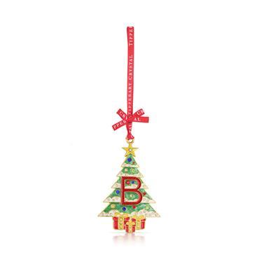TIPPERARY CRYSTAL ALPHABET CHRISTMAS TREE DECORATION