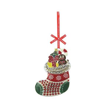 TIPPERARY CRYSTAL SPARKLE STOCKING TREE DECORATION