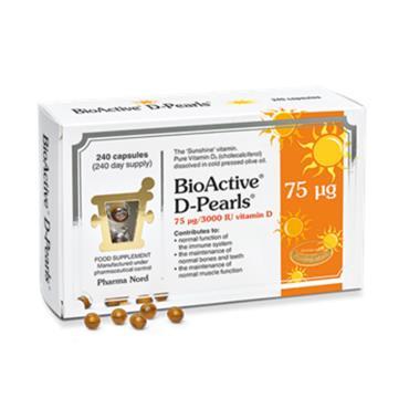 PHARMA NORD BIOACTIVE D-PEARLS 75 UG 240 CAPSULES