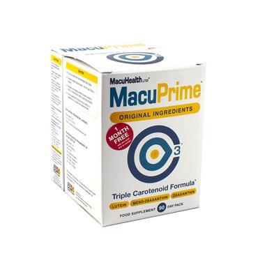 MACUHEALTH MACUPRIME TRIPLE CAROTENOID FORMULA 90 CAPSULES + 30S BANDED PACK