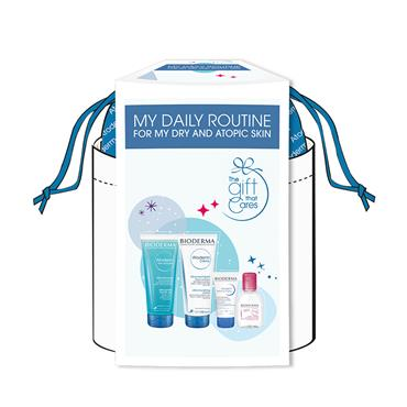 BIODERMA DRY SKIN ROUTINE POUCH 4 PIECE SET