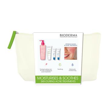 BIODERMA 3 PIECE SET - SENIUM HYDRA 40ML + SENSIBIO FOAM GEL 200ML + ATODERM LIPBALM X 2