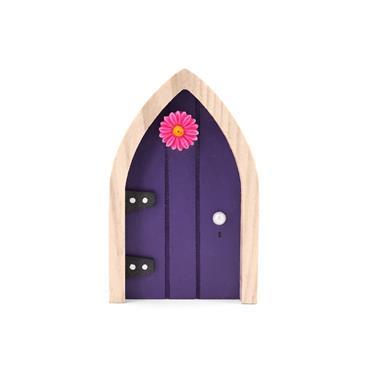 THE IRISH FAIRY DOOR COMPANY NAVY AND PINK FLOWER DOOR MAGNET