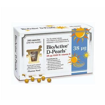 PHARMA NORD BIOACTIVE D-PEARLS 38 UG/1520 IU 240'S
