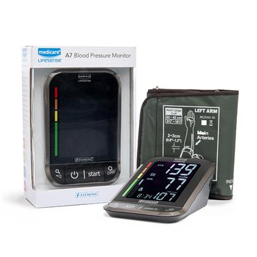 MEDICARE LIFESENSE A7 UPPER ARM BLOOD PRESSURE MONITOR