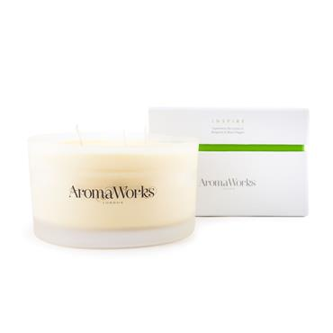 AROMA WORKS LARGE 3 WICK CANDLES INSPIRE 400G