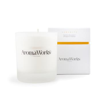 AROMA WORKS MEDIUM 30CL CANDLE SERENITY