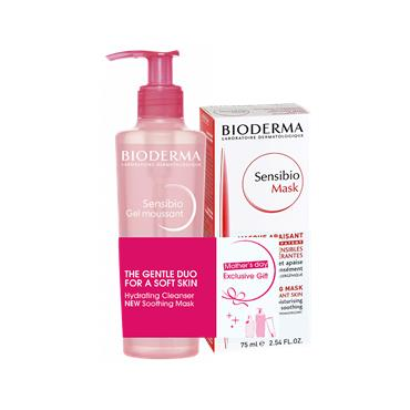 BIODERMA MOTHERS DAY SET - SENSIBIO MASK AND FOAMING GEL 200ML, SENSIBIO AR+