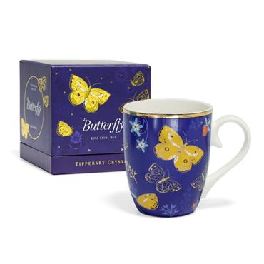 TIPPERARY CRYSTAL BUTTERFLY MUG THE CLOUDED YELLOW
