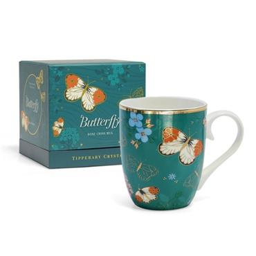 TIPPERARY CRYSTAL BUTTERFLY MUG THE ORANGE TIP