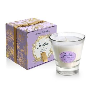 TIPPERARY CRYSTAL JARDIN ROSEMARY & BLACKBERRY CANDLE