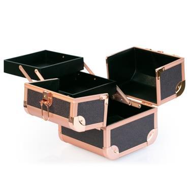 INGLOT MAKEUP CASE BLACK&ROSE GOLD