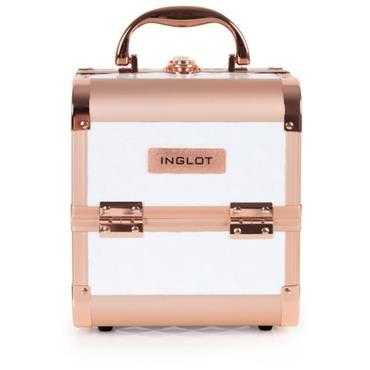 INGLOT MAKEUP CASE DIAMOND MINI WHITE&ROSE GOLD