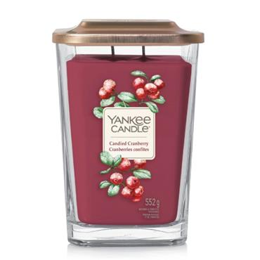YANKEE CANDLE LARGE ELEVATION JAR CANDIED CRANBERRY
