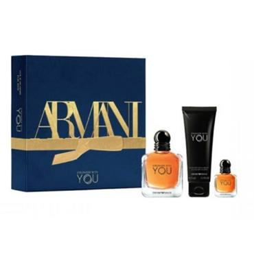 ARMANI STRONGER WITH YOU MENS 50ML 3 PIECE GIFTSET