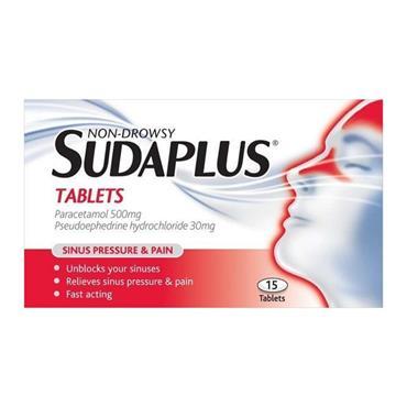 SUDAPLUS NON-DROWSY 15 TABLETS