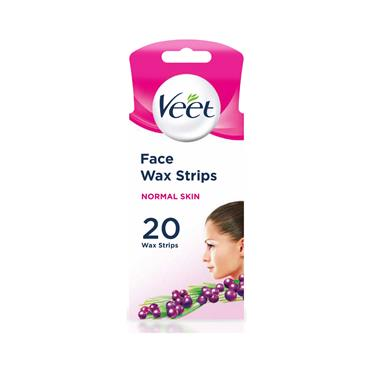 VEET FACE WAX STRIP N/SKIN 20S